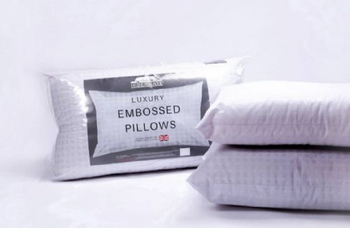 Pair Of Luxury Hotel Quality Embossed Pillows